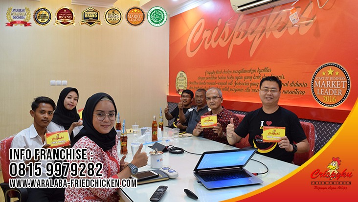 waralaba fried chicken terlaris terpercaya crispyku